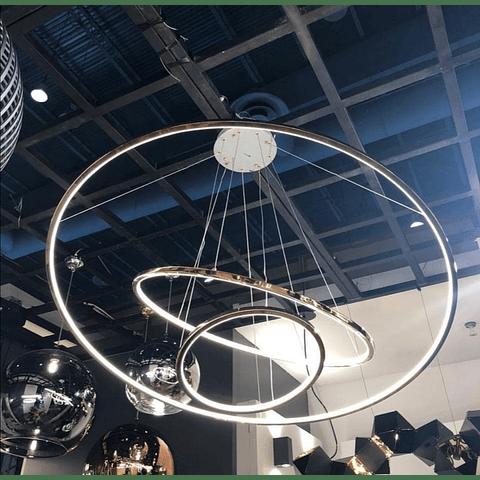 Q24483-CH Lámpara Kreis D1200*H1800 LED150W 3 luces Cromo