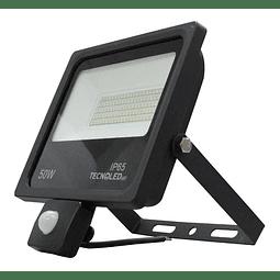 RZH-50W-SR REFLECTOR LED CON SENSOR DE MOVIMIENTO 50W 5,000LM 6500K 85-305V