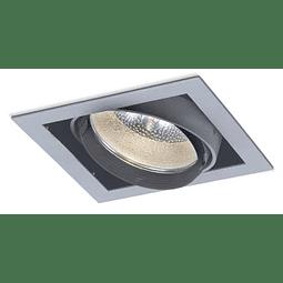 Empotrable SQUARE 06-5401-03, 1 luz. Soquet E26 Aluminio
