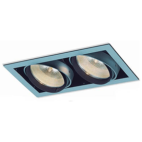 Empotrable SQUARE 06-5402-03 2 luces. Soquet E26 Aluminio