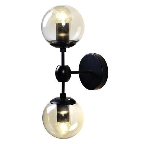 Q16022-BK Miro Pared 2 luces D120*W190*H385 E27 2*40W BK