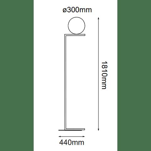 Sonne Pie Q31630-BK D300*L440*H1810, E26 1*60W Acabado Negro
