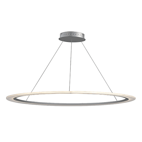 E22657-11MS Lámpara Saturn II LED 1-Luz 50W Acab. Plata Mate