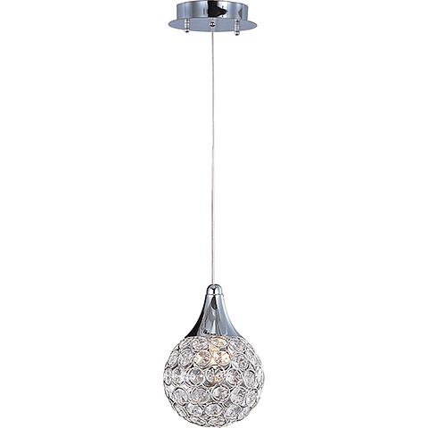 Brilliant 1-Luz E24023-20PC Colgante Decorativa Cristales Cromo