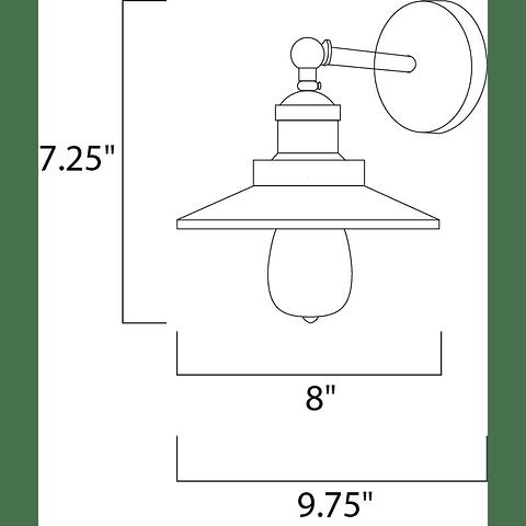 Mini Hi-Bay 25060BZ 1-Luz empotrable a Muro Bronce