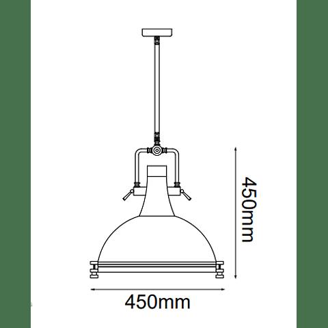 Q31088-NI Lámpara Kelch D450*H450 E26 1*60W Acab. Níquel