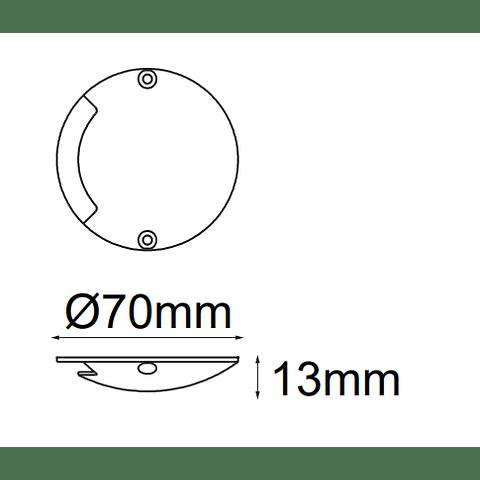 Conus Empotrable a Piso 05-2801-NW 1 luz cortesia 0.5W 20Lm IP67 4000K