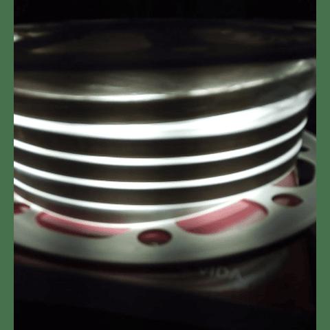 WMA-016 MANGUERA LED NEÓN DOBLE 2835 ROLLO 25M BLANCO FRÍO EXTERIOR