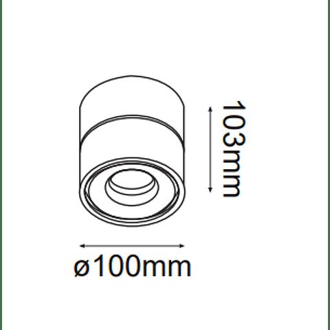 "DownLight Ciclope 22-9036-01 13W 1040lm 3000K ""dim"""