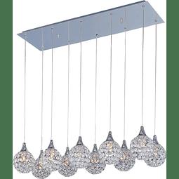 Brilliant 10-Luces E24028-20PC Colgante Decorativa Cristales Cromo
