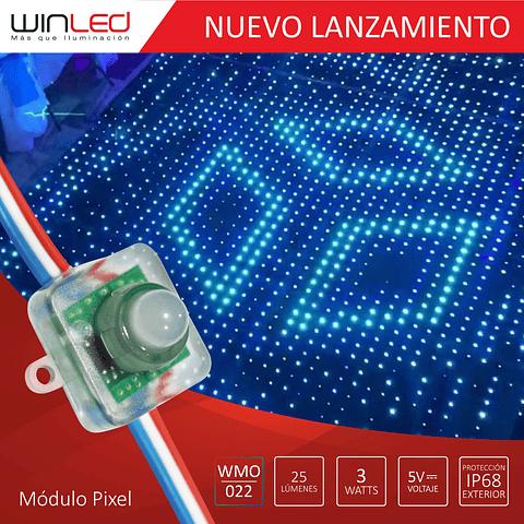 WMO-022 MÓDULO PIXEL CUADRADO IC1903 3W MULTICOLOR RGB PAQ. 250 PZAS