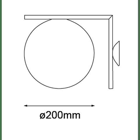 Sonne Muro Q31620-GD/WH D200 E26 127V 1*60W Opalina
