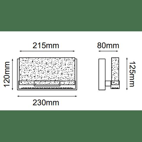 Luna Vanity Q30021-CH Muro W230*E76*H130 8W 800Lm 3000K