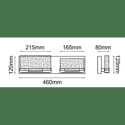 Luna Vanity Q30022-CH W460*E76*H130 15W 1400Lm 3000K