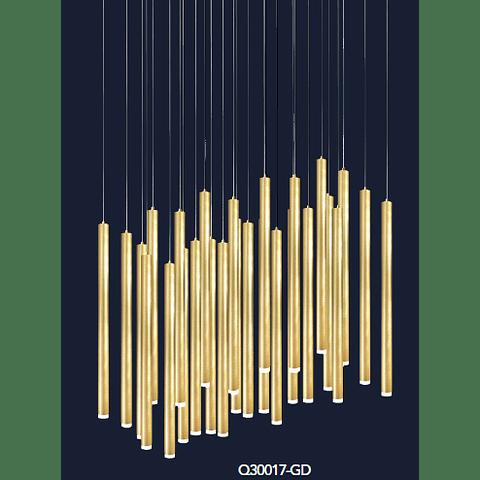 Minha Colgante Q30017-GD D420*H4000 G9*27 luces Oro