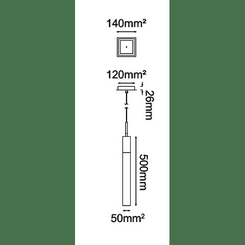 Soho Colgante Q33021-BG L50*W50*H500 1*GU10