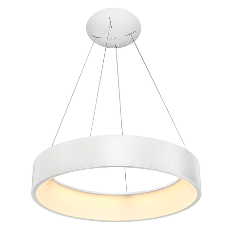 Q21091-WH Lámpara Decorativa LED Theo Pendant 42W 90-130V 3000K Blanco Mate