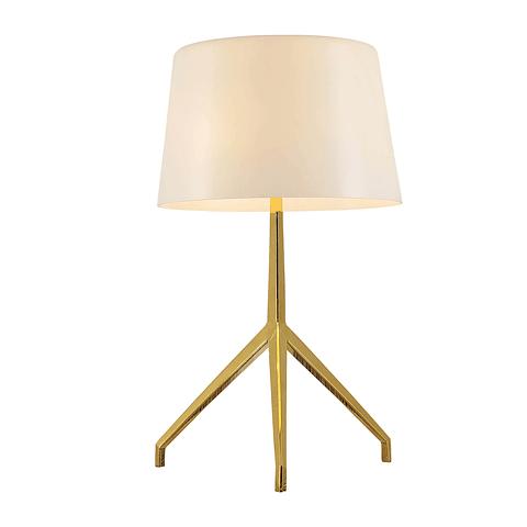 Q48016-GD/WH Lámpara Decorativa de Mesa Pearl 1 Luz E26 Acabado Oro