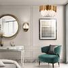 Lámpara decorativa DANAE Q11606-GD 6 luces Acab. Oro & Cristales