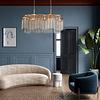 Lámpara decorativa DESIRÉE Q58507-GD Vintage 8 Luces Cristal