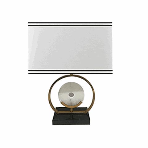 Lámpara de mesa clásica 3LMAT03 E26 Metal y Mármol Acab. Blanco