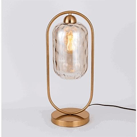 Lámpara de Mesa 3LMDI03 Vintage Metal y Vidrio Acab. Oro