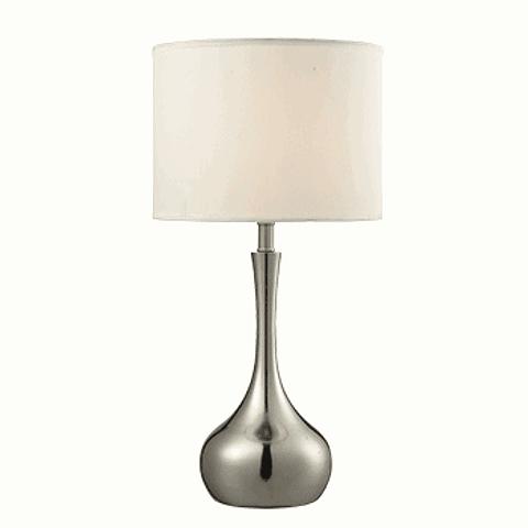 Lámpara de mesa clásica  3LMTP314 E26 Metal y Tela Acab. Blanco