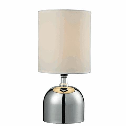 Lámpara de mesa clásica 3LMTP317  E26 Metal y Tela Acab. Cromo