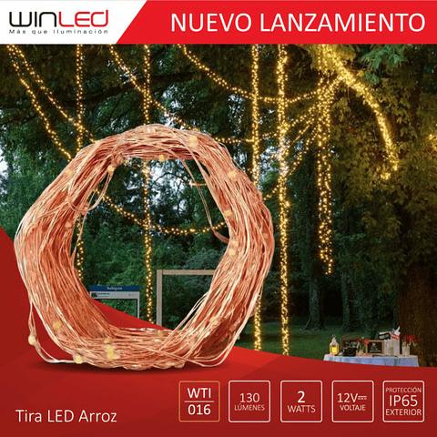 WTI-016 TIRA LED ARROZ 10M 2W EXTERIOR BLANCO CÁLIDO