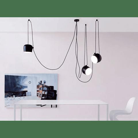 Q27140-BK Lámpara Decorativa  Marco 3 luces Acab. Negro