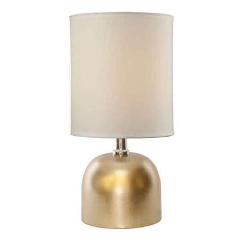 Lámpara de mesa clásica 3LMTP516 E14 Metal y Tela Acab. Dorado