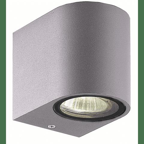 05-7491-03 LUMINARA DE PARED LED ODIN GU10 ACABADO GRIS IP44