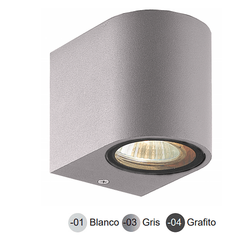 05-7491-04 LUMINARA DE PARED LED ODIN GU10 ACABADO GRAFITO IP44