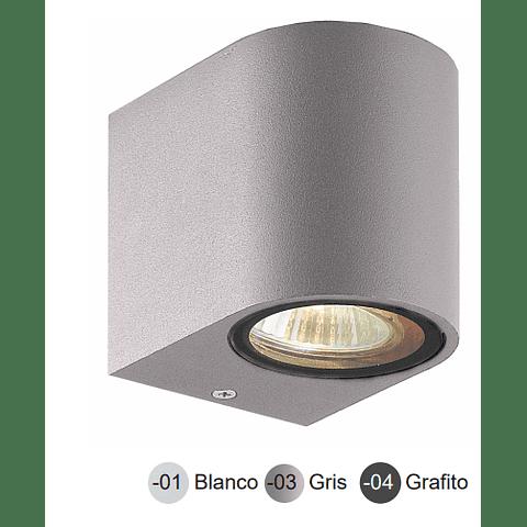05-7491-04 LUMINARA DE PARED LED ODIN GU10 ACABADO GRAFITO IP44