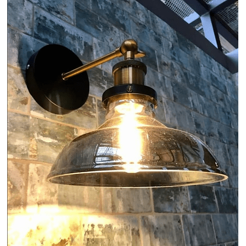 Q33135-SM KELCH 1 LUZ DE PARED CRISTAL HUMO E26