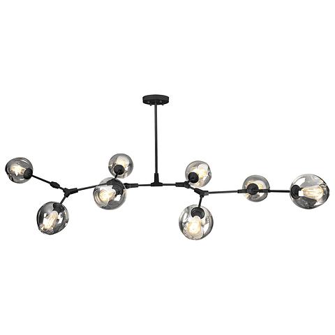 Q16068-BK Lámpara Colgante Sakura 8 Luces 60W E27 Acabado Negro