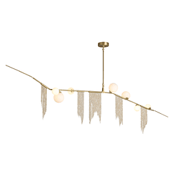 Q48127-GD Lámpara Decorativa LED Stella 7 luces 28W Oro