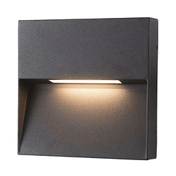 08-2201-04 Lámpara de Cortesía a Muro Kelpie II 6W Blanco Cálido Acabado Grafito