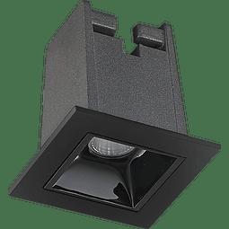 06-7091-07 Lámpara Vulcano Empotrar 1*2W 127V 3000K Acab. Negro