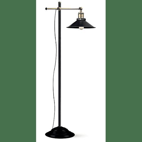 EG_LENIUS Lámpara de Piso Estilo Vintage 6W Atenuable Luz Cálida