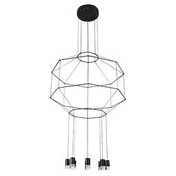 Q27888-BK Lámpara Sketch 8 luces* 5W 3000K Acab. Metal