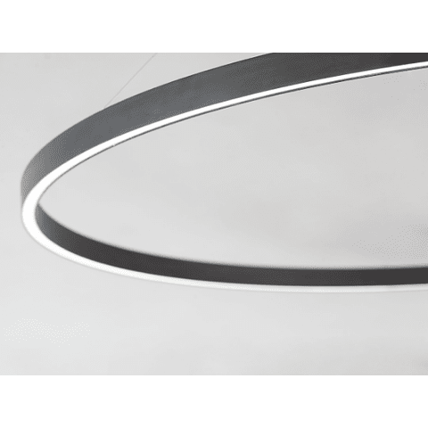 E22724-BK Lámpara Groove 27W CRI 90 Aluminio y Acrílico