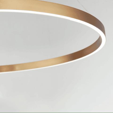 E22726-GD Lámpara Groove LED 35W CRI 90 Aluminio y Acrílico Acab. Dorado