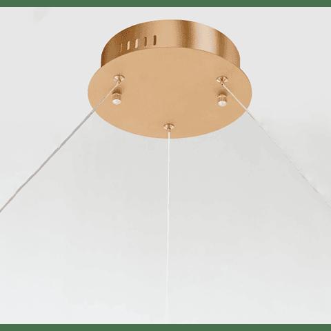 E22728-GD Lámpara Groove LED 41W CRI 90 Aluminio y Acrílico Acab. Dorado