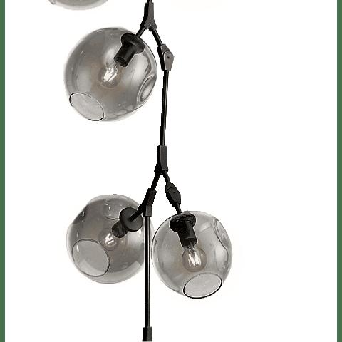 Q16060-BK Lámpara Sakura 10 luces E26 127V Acab. Negro