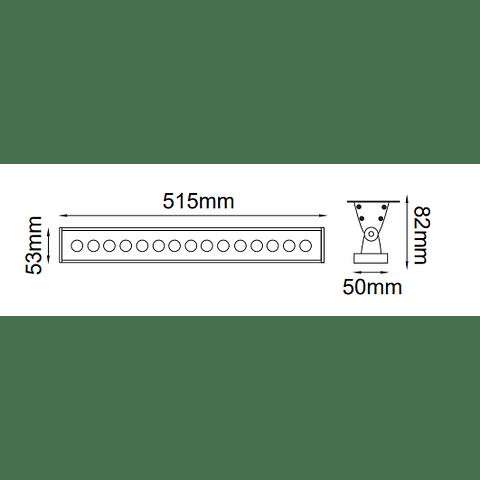 05-0502-RGB Bañador de Muro Medusa Regleta 20W 24V IP65 RGB