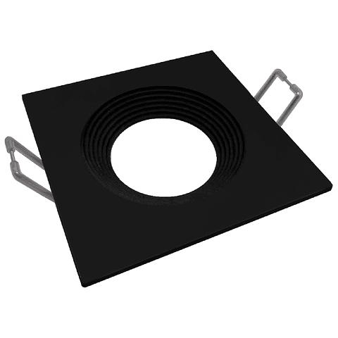 06-2904-07 Nox Aluminio Empotrable 90*90*26mm Negro