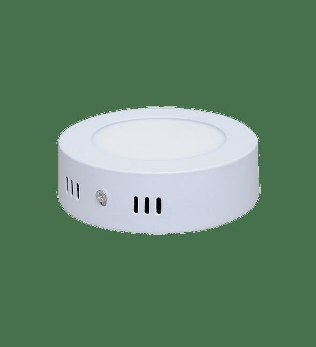 ADO-016 PANEL LED SOBREPONER 6W Redondo Blanco Cálido