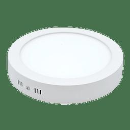 ADO-013 PANEL LED SOBREPONER 18W Redondo Blanco Frío