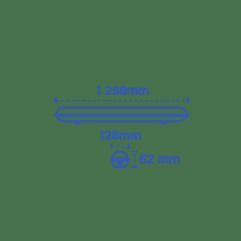 STKLED2X17 STANKA WATERPROOF T8 2X17W LED IP65 Blanco Frío
